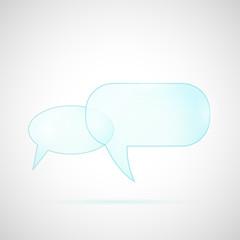 Glass Chat Bubbles