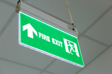 Wall Mural - Fire exit sign