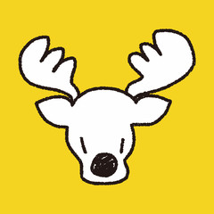 reindeer doodle drawing