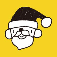 Santa Claus doodle drawing