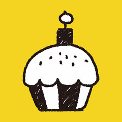 cupcake doodle drawing