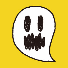 ghost doodle drawing