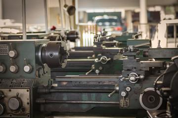 Old metal lathe machine