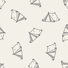 doodle tent seamless pattern background