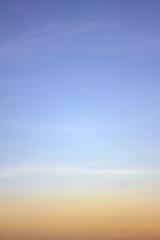 sky as sunset