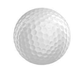 Poster Golf Golf ball 3D render isolated on a white background