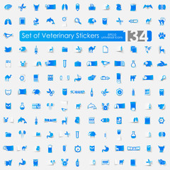 Set of veterinary stickers