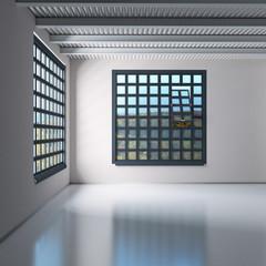 Industriehalle mit Industriefenster