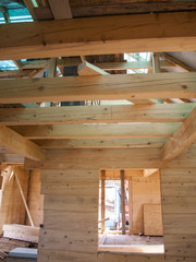 fragment structure wooden log home