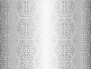 Luxury silver background with ornament pattern