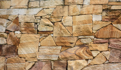 Sandstone rock wall background