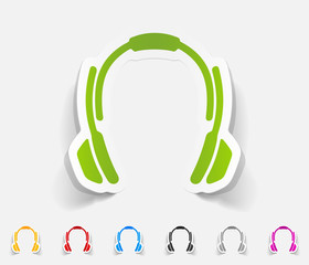 realistic design element. headphones
