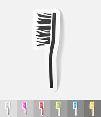 realistic design element. toothbrush