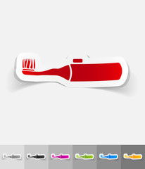 realistic design element. electric toothbrush