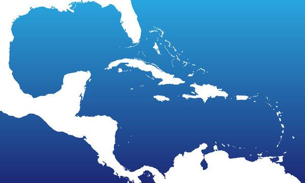 Golf von Mexiko in blau