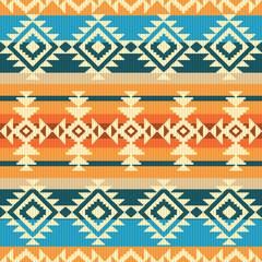 Navajo style geometric seamless pattern