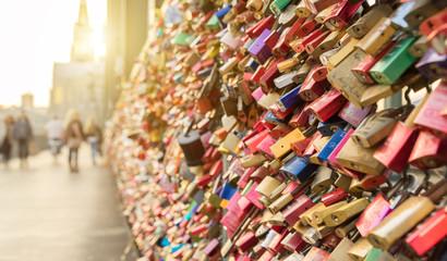 Liebesschlösser in Köln
