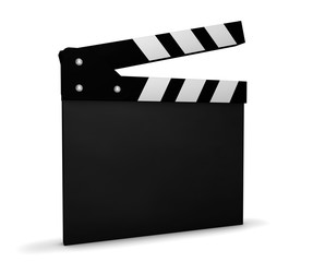 Cinema Video And Movie Blank Clapperboard