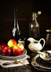 Still life with apples.
