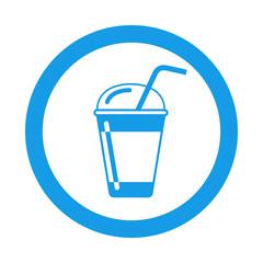 Icono redondo batido azul