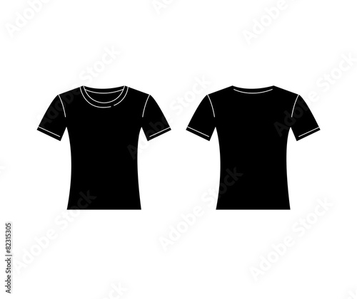 quotvector of women black tshirt template front and back