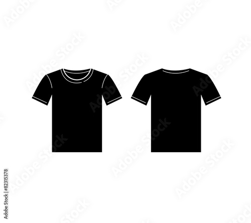 Vector Of Men Black T Shirt Template Front And Back Stock Image