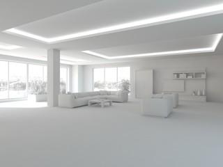 grey interior concept-3d rendering