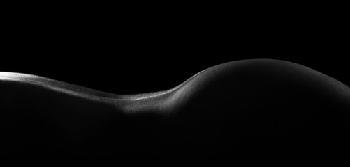Body scape of woman lower back and buttock artistic conversion