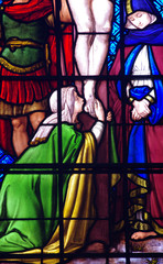 Mary Magdalene at the foot of the cross
