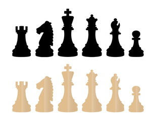 Chess Pieces Vector Illustrations