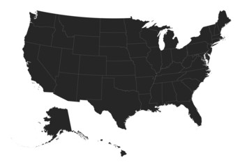 USA & States Vector Maps