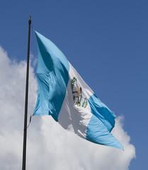 Guatemala waving flag on a sunny day
