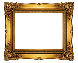 High resolution baroque style frame - Clipping Path