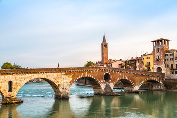 Bridge in Verona, Italy,