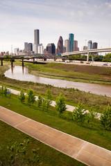Houston Skyline Southern Texas Big City Downtown Metropolis Path