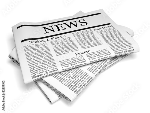 Newspaper  3D  Pack of Folded Newspapers