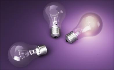 Light Bulb. 3D. Light bulb