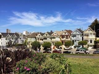 painted ladies houses in san francisco california