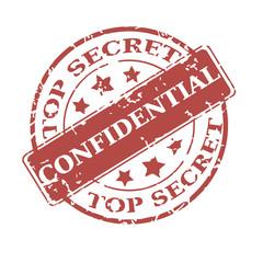 Vector round stamp Confidential