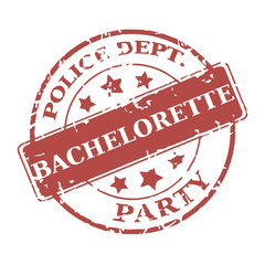 Vector round stamp Bachelorette