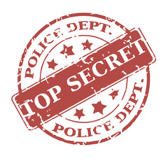 Vector round stamp Top secret