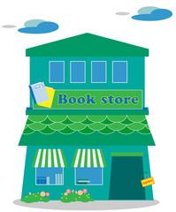 本屋、書店、ブックストア、町の小さな本屋、書房、ブックショップ