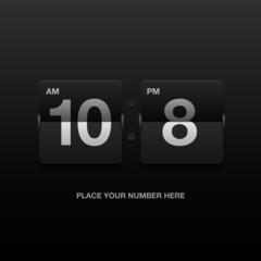 Digital clock, analog black scoreboard