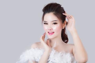 portrait of beautiful woman model