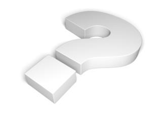 Question Mark. 3D. Question symbol