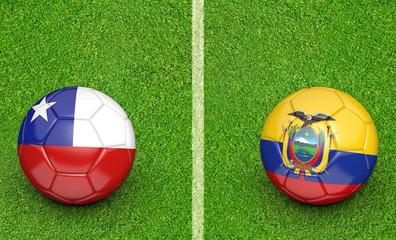 2015 Copa América football tournament, teams Chile vs Ecuador