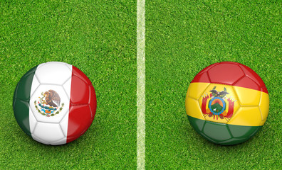 2015 Copa América football tournament, teams Mexico vs Bolivia