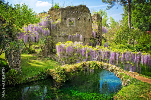 The nymph garden ninfa latina italy stock photo and for Giardini di ninfa unesco