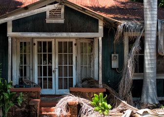hut after hurricane tropical storm