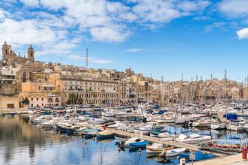 Birgu Marina and waterfront in Valletta
